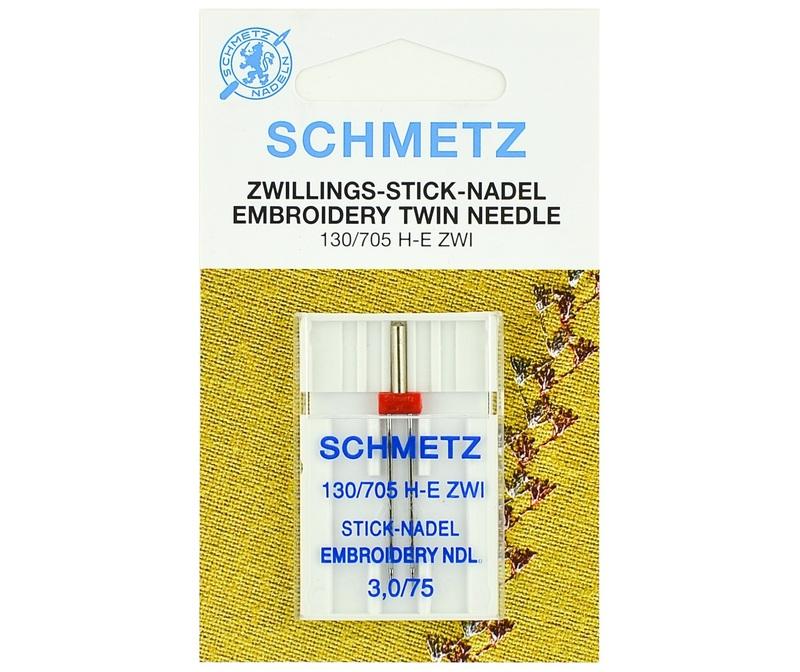 Игла SCHMETZ двойн.вышив.№75\3.0 (1 шт)Schmetz<br><br>
