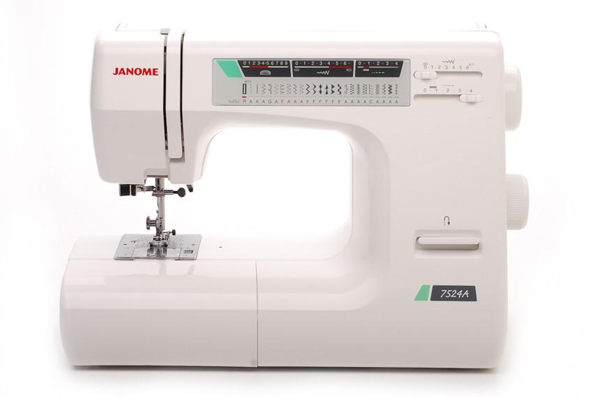 Janome 7524AJanome<br>Швейна машина Janome 7524a имеет горизонтальное челночное устройство, выполнет 24 строчки. Имеет в комплекте  7 лапок, нитевдеващее устройство, подсказки.<br>