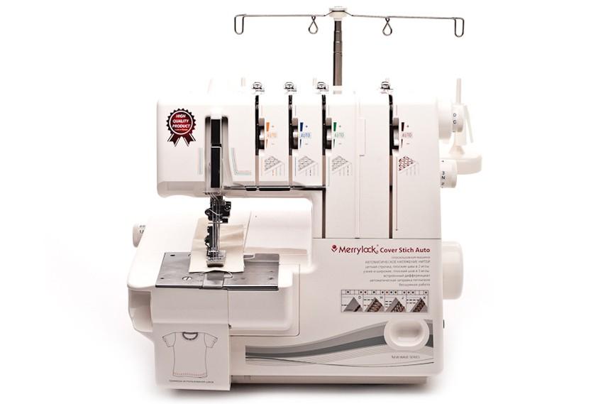 Машина плоскошовная Merrylock Cover Stitch AutoMerrylock<br>Merrylock Cover Stitch Auto - это 2(3)-х игольная плоскошовная машина. Выполняет узкий, широкий плоские швы. Имеет дифференциал. Скорость шитья до 1000 ст./мин. Имеет облегченную заправку нижнего петлителя. Отличается автоматическим натяжением нитей.<br>