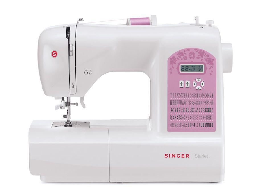 Singer 6699 StarletSinger<br>Швейная машина Singer Starlet 6699 - электронная модель. Singer 6699 - вертикальный челнок, 100 операций. В комплекте - приставной столик, жесткий чехол, несколько видов петель в автоматическом режиме.<br>