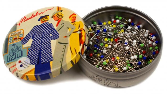 029300 Prym Булавки портновские с цветными головками 30*0,6мм (20г) фото