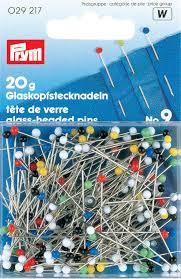 029217 Prym Булавки с разноцветными стеклянными головками 30*0,6мм, 20г (блистер) фото