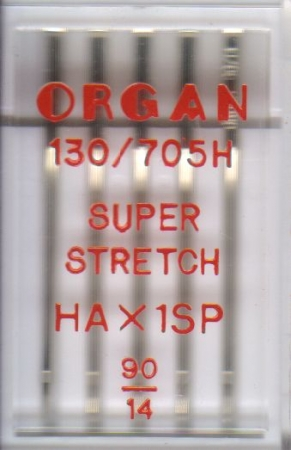 Иглы Organ супер стрейч №90 (5шт.)