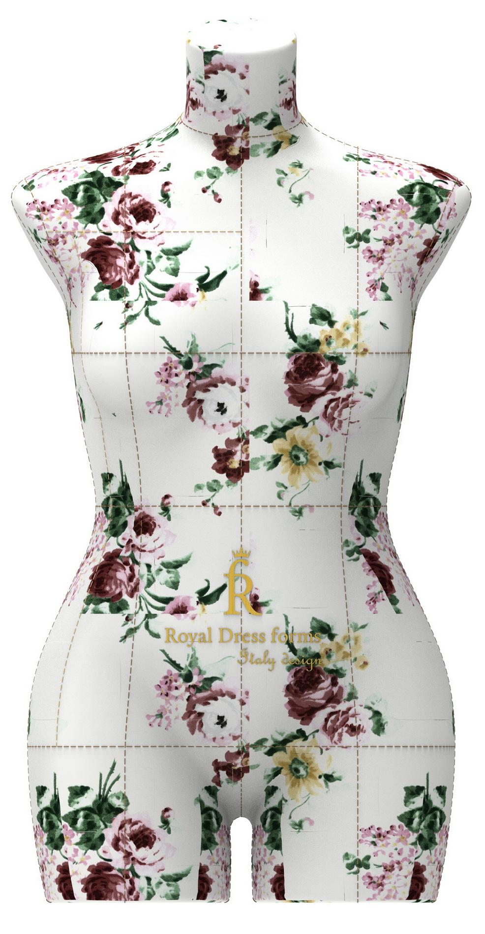 Манекен Monica р. 46 (цв. цветочный, подставка