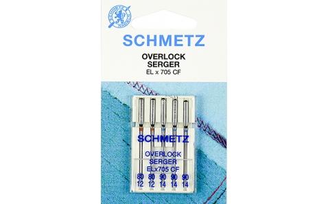 Иглы SCHMETZ для оверлоков (хромированные) №80-90 (5шт.)