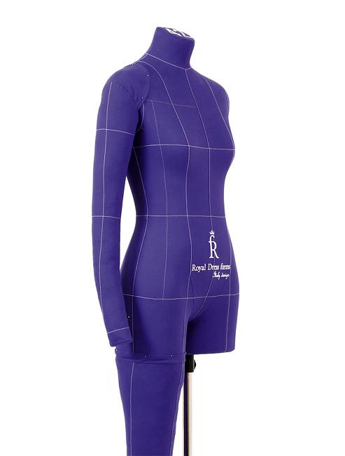 Манекен RDF Monica Art р. 48 (цв. фиолетовый, рука, нога и подставка «Милан» в комплекте)