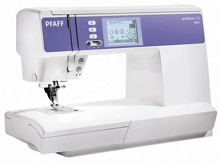 PFAFF ambition 1.5PFAFF<br>Электронная швейная машина PFAFF Ambition 1.5 со встроенным IDT (верхним транспортером ткани). PFAFF Ambition 1.5 отличается следующими особенностями: современный горизонтальный челнок, 195 строчек (рабочие, декоративные, оверлочные, для пэчворка и пр.). ...<br>