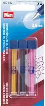 610842 Prym Запасные грифели для механического карандаша, желт/черн/роз по 6 шт.